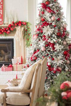 Classic Nostalgic Red Christmas - Handmade Farmhouse