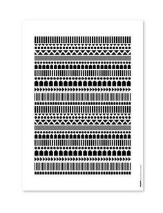 Juliste Knitting mustavalkoinen