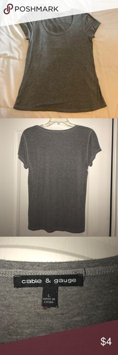 Gray T-shirt Just a plain T-shirt. The basics everyone need for their closets. Perfect condition. No tears or any defects in general . Cable & Gauge Tops Tees - Short Sleeve