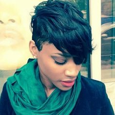 Inspiring Short Pixie Hairstyles For Black Women 09 Short Hairstyles 2015, Black Women Short Hairstyles, Short Pixie Haircuts, Pixie Hairstyles, Short Hair Cuts, Medium Haircuts, African Hairstyles, Hair Styles 2016, Curly Hair Styles
