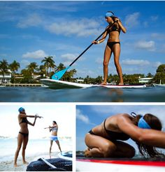Stand up paddle yoga :)