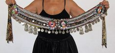 Tribal belt Tribal fusion ATS gypsy belly dance belt Tribal