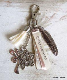 """Bijou de sac, grigri, Lili et Ma* Créations """"Arbre de Vie, Par amitié..."""" : Porte clés par lili-et-ma-creations"""