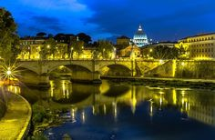 Ponte Vittorio Emanuele II, Rome, Italy by Europe Trotter #Landscape #Photo #LandscapePhotography #Photography #Phot…