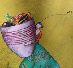 Watercolor Face, Watercolor Paintings, Beautiful Paintings, Beautiful Images, Illustrator, Art Carte, Woman Illustration, Woman Drawing, Whimsical Art