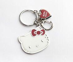 Hello Kitty Locket Key Ring: Hearts
