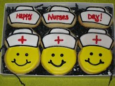 Cute nurse cookies