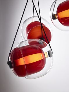 CAPSULA by Lucie Koldova  Brokis - interior - light - design - red.