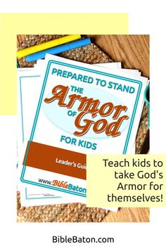 When you teach the Armor of God, you could potentially change your kids' lives forever. And this Leader's Guide will give you everything you need to do it: 6 printable lesson plans that are easy for you to teach; creative Intro Activities for each lesson, so you can catch your kids' interest right away; and review questions & Application Activities for each lesson. Perfect for Sunday School, children's ministry, or VBS! Click through for more info. Family Bible Study, Bible Lessons For Kids, Armor Of God, Object Lessons, Hands On Activities, Sunday School, Teaching Kids, Ministry, Lesson Plans