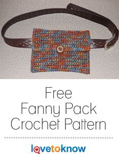 50f1cbcea7fc Crochet a simple fanny pack purse to carry all your small essentials for  hands-free