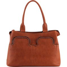 MKF Collection Zyana Handbag Brown MKF Collection Manmade Handbags