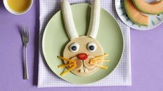 Make these bunny pancakes for Easter morning.