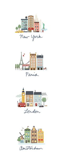 wanderlust quadros wanderlust doodles I like this idea for the cities we visited in Australia Travel Illustration, London Illustration, Travel Posters, Art Drawings, Prints, Stationery Design, Stationery Paper, Travel Drawing, New York Drawing