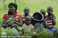 """Florence and her 5 children escaped to Uganda from the Democratic Republic of Congo as a result of conflict. She initially hid in the bush and later found out that her husband had been blown up by a land mine. """"When I found out he was dead I lost hope and decided to leave the country."""" The most important thing she brought with her is this saucepan which allowed her to feed her children. ©UNHCR/L.Beck - Visit 1family: http://www.unhcr.org/1fam"""