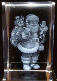Santa - Christmas 3D Crystal - Ovid Gifts