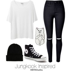Basic Colors: Jungkook by btsoutfits on Polyvore featuring Acne Studios, Converse, NLY Accessories and RIPNDIP