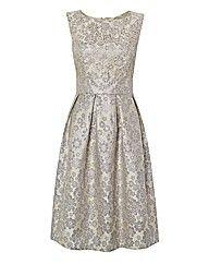 Gina Bacconi Jacquard Dress