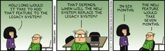 How Long For New Feature -  Dilbert Comic Strip on 2017-02-22 | Dilbert by Scott Adams