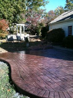 Stamped brick patio with brick border in Bedford, VA