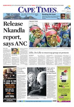 News making headlines: Zille, De Lille to meet top group on protests