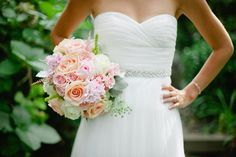 Blush wedding flowers. Blush bridal bouquet.  Kate Connolly photography. Flowers by Melinda