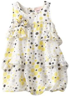 Little Lass Baby-girls Infant 1 Piece Bubble Creeper With Cute Prints and Ruffles, White, 18 Months Little Lass. $11.00