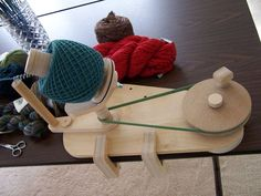 Ball winder. I want to make one of these, but don't have the equipment. It's always nice to dream, I guess.   (Design by Clayton Boyer)