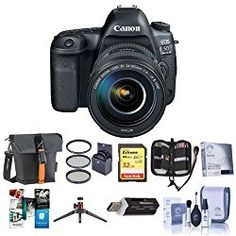 Canon EOS-5D Mark IV Digital SLR Camera Body Kit with EF 24-105mm f/4L IS II USM Kit – Bundle with 32GB U3 SDHC Card, Holster Case, Table Top Tripod, Cleaning Kit, 77mm Filter Kit, Software Package