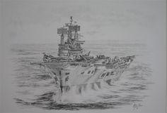 HMS Ark Royal Hms Ark Royal, Ship Drawing, Ship Paintings, Ship Art, Aircraft Carrier, Royal Navy, Battleship, Art Drawings, Military