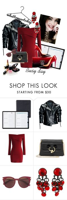 """""""What should I wear? (#2)"""" by andrea-pok on Polyvore featuring AT-A-GLANCE, Leka, Chicwish, J.W. Anderson, Salvatore Ferragamo, Paco Rabanne, Christian Louboutin, Chanel, contest and office"""