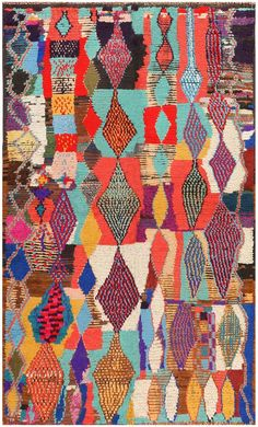 No info on this clearly Berber rug. Love the mad colouring and play on the same basic forms.