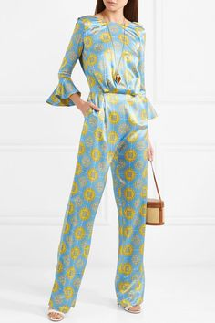 dd82ef8cbc6 Seren - Gee open-back printed silk-satin jumpsuit