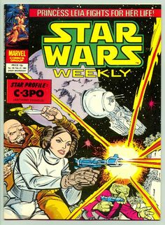 Star Wars Weekly: a selection of comic cover art Star Wars Comic Books, Star Wars Comics, Star Wars Art, Vintage Comic Books, Vintage Comics, Vintage Posters, 80s Posters, Disney Posters, Book Cover Art