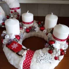 Christmas Diy, Christmas Decorations, Holiday Decor, Christmas Candle Holders, Xmas Wreaths, Diy And Crafts, Garage, Candles, Winter