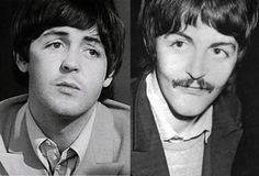 James Paul McCartney on the left and his replacement on the right