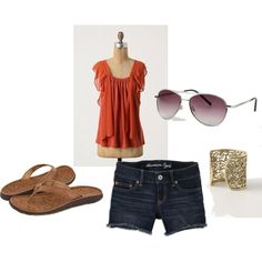 Chiffon and Shorts, created by winery on Polyvore