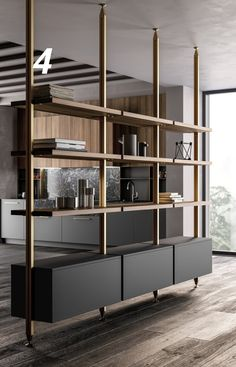 Kitchen 2019 on Behance Best Picture For home design art artworks For Your Taste You are looking for Living Room Partition Design, Room Partition Designs, Partition Ideas, Living Room Divider, Office Interior Design, Office Interiors, Interior Colors, Muebles Living, Farmhouse Kitchen Cabinets