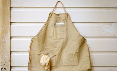 Naturally Dyed Canvas Apron for Flint Outdoors  — Matt Katsaros