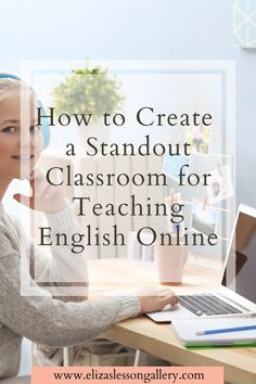 """Thinking of Teaching English Online? Find out how to get set up in your best space to create a professional and fun """"virtual classroom"""" for your ESL students. Teaching English Online, Education English, Classroom Setting, Classroom Setup, Teaching Materials, Teaching Resources, Coding Jobs, Esl Lesson Plans, Esl Lessons"""