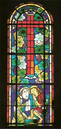 1985 stained glass window of the Korean Christian Church of Nagoya;