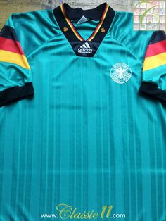 655af8a8c Relive Germany s 1992 1993 international season with this vintage Adidas  away football shirt. Football