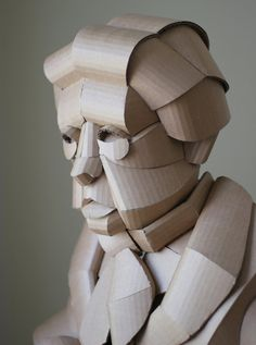 in the warren king cardboard shaoxing villagers series, the artist sculpts residents of his grandparents' home village china, one individual at a time. Cardboard Sculpture, Paper Mache Sculpture, Sculpture Art, Sculptures, Projects For Kids, Diy For Kids, Paper Art Design, Paper Structure, Modern Sculpture