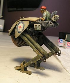 Scratchbuilt scout walker (Ma.K. inspired) - Dioramas - Modeling Subjects - Finescale Modeler Community
