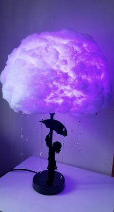 Rain Cloud Lamp with little girl Night light Nursery Bedroom Dormroom Glow cloud room decora. Rain Cloud Lamp with little girl Night light Nursery Bedroom Dormroom Glow cloud room decoration s Glow Cloud, Cloud Night Light, Decoration Bedroom, Cute Room Decor, Cloud Decoration, Cloud Lampshade, Diy Cloud Lamp, Cloud Lights, Room Ideas Bedroom