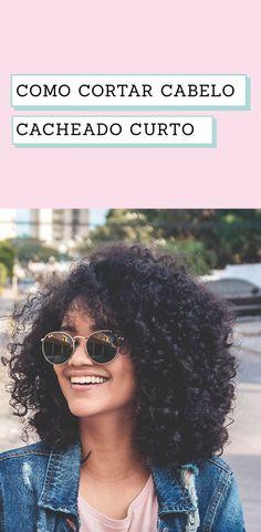 Como cortar cabelo cacheado curto em camadas sozinha Curly Afro Hair, Curly Hair Cuts, Short Curly Hair, Curled Hairstyles, Pretty Hairstyles, Bad Hair Day, Love Hair, New Hair, Hair Inspiration