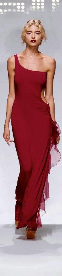 Fisico - Milan Spring 2012 - red dress