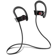 PowerLead Phad H1020 Wireless Headphone Secure Fit inEar Headset 8 Hour Sports Earphone Handsfree Call with Mic -- See this great product.