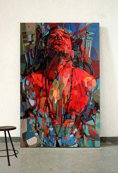 Original Portrait Painting by Noemi Safir Abstract Portrait Painting, Figure Painting, Portrait Art, Abstract Art, Portrait Paintings, Acrylic Paintings, Art Paintings, Inspiration Art, Art Inspo