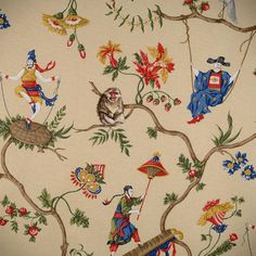 Chinoiserie Chic: Scalamandre Ming Circus and Patience - Great fun! Everyone appears to be having a lot of it.