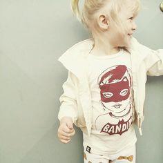 We spy a BANDIT GIRL✖️✖️ @winnieandb thanks for sharing this little superhero in our new bandit girl tee ✖️✖️❤️❤️ #miniandmaximus